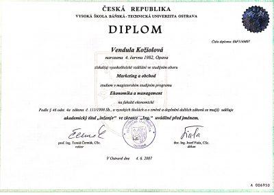 Diplom - inženýrské studium