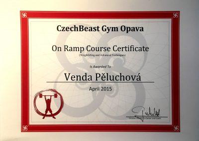On Ramp Course Certificate